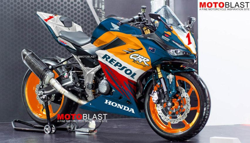 All New CBR150R Livery Repsol NSR500 MotoGP, Cakep Pool!