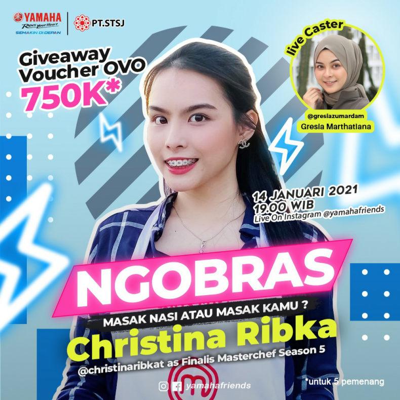 Ngobras Yamaha : Ngobrol Soal Hobi Masak Bersama Christina Ribka