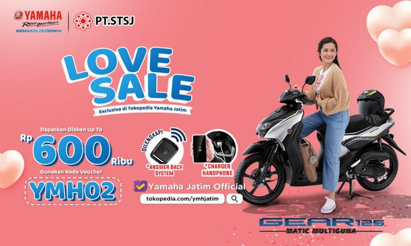 Promo LOVE SALE Yamaha Jatim, Beli Motor Tanpa DP di Tokopedia