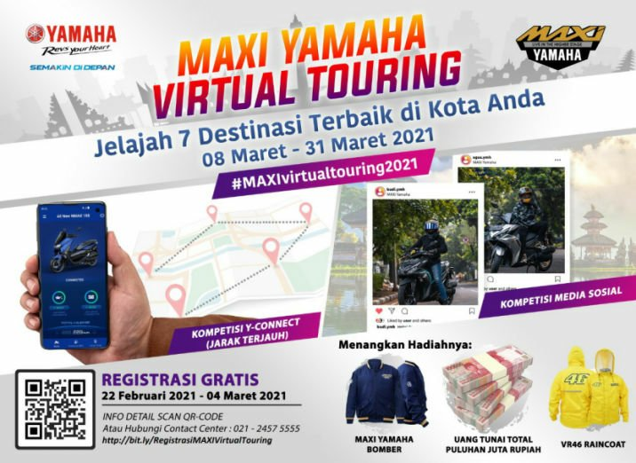 Yamaha Jatim Ajak Konsumen Virtual Touring, Hadiahnya Mantuull!
