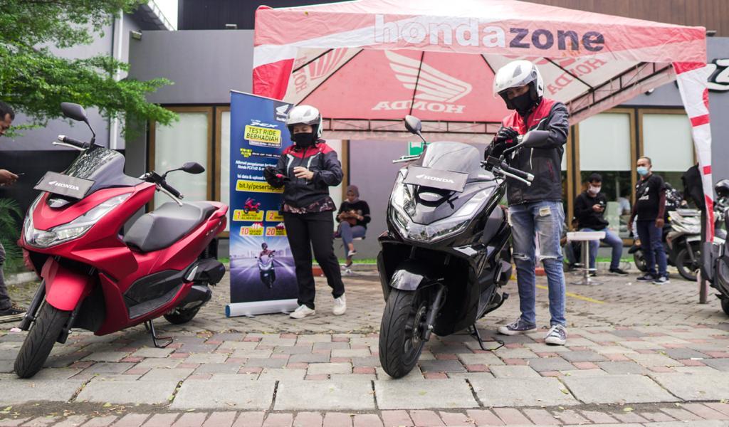 Test Ride Motor All New Honda PCX Berhadiah Motor, Mantul!