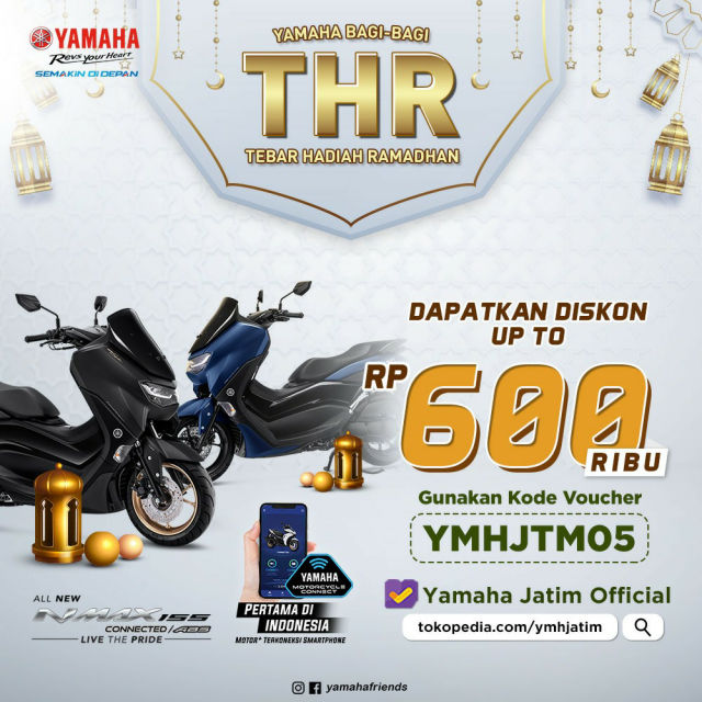 Masih Lebaran, Yamaha Jatim Bagi2 THR