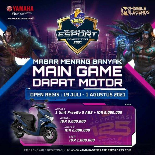 Mabar Mobile Legend Dapat Motor di Yamaha Generasi125 E-sport Competition!