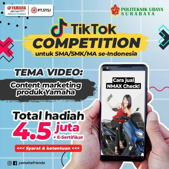 Yamaha Jatim dan Politeknik Ubaya Adakan Tiktok Competition Untuk Pelajar