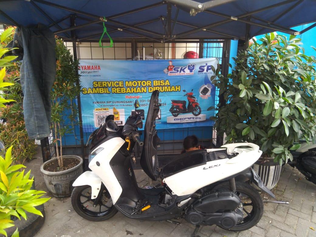 Lagi PPKM, Service Motor Di Rumah Saja Ala SKY!