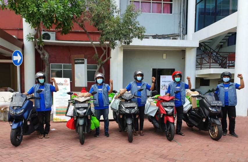 Bersama Universitas Muhammadiyah Surabaya, Yamaha Jatim Mendukung Kegiatan Paket Isolasi Mandiri