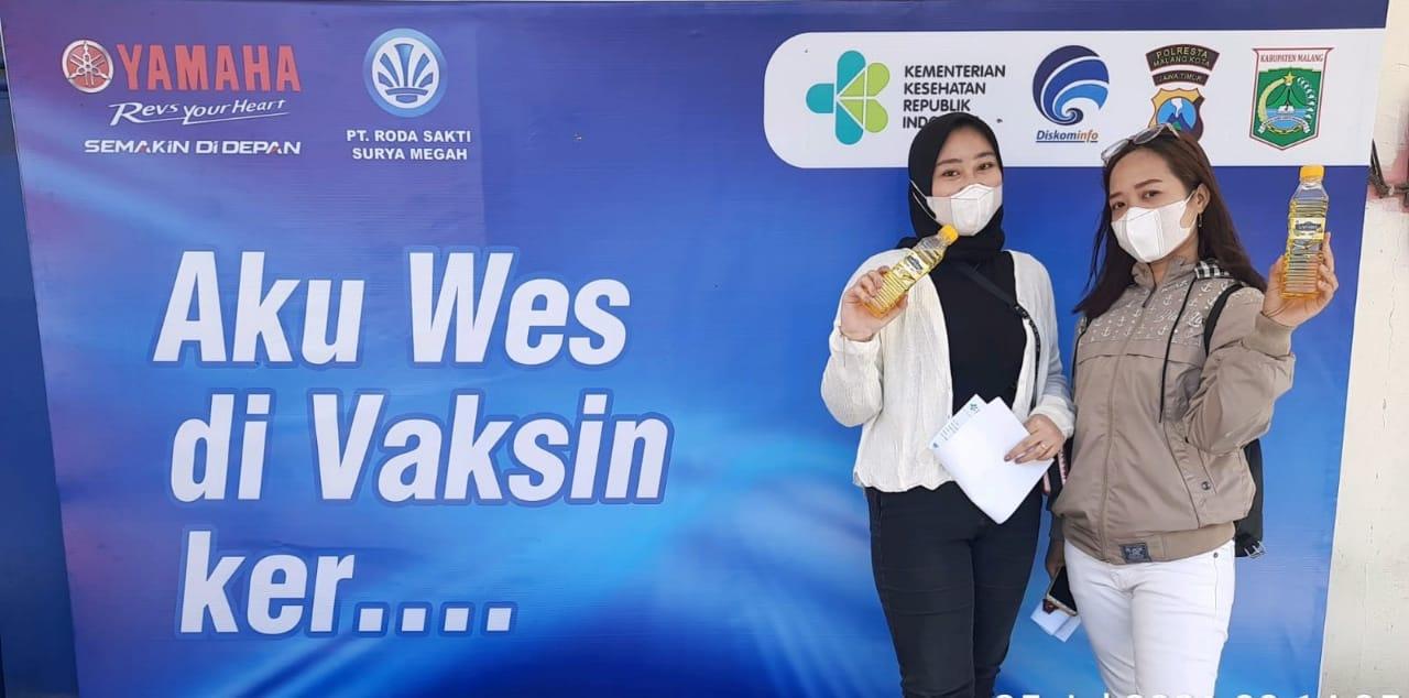 Yamaha Jatim Berikan Paket Hiburan Kepada Peserta Vaksinasi Massal Di Malang