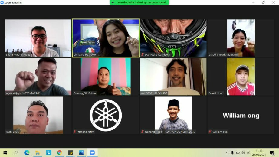 Yamaha Jatim Kopdar Online Bareng Media, Topik Seru Abis Cak!