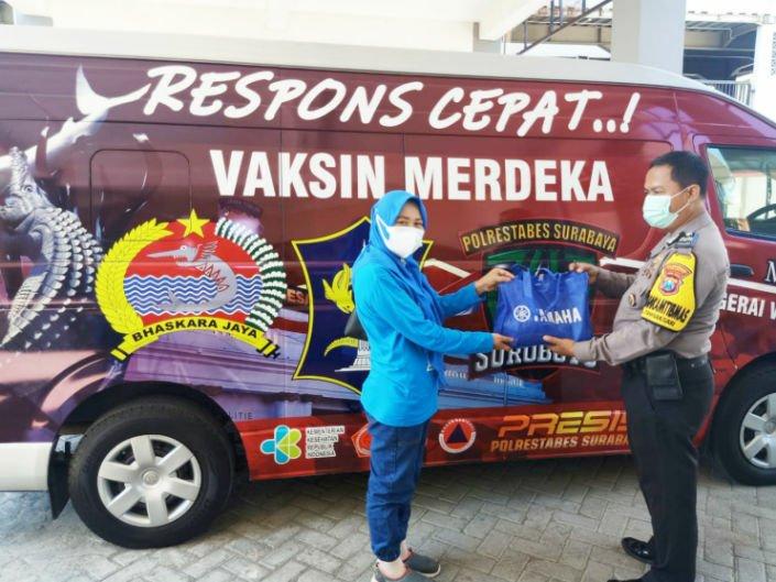 Yamaha Jatim Dukung Vaksinasi KelilingPolrestabes Surabaya