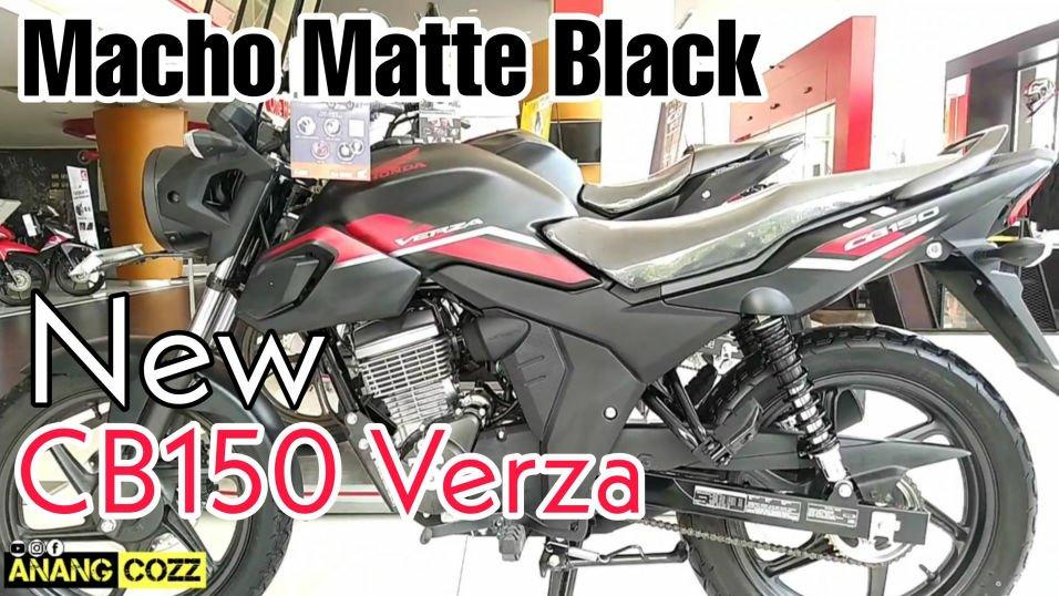 Kepoin New Honda CB150 Verza CW Warna Hitam Doff