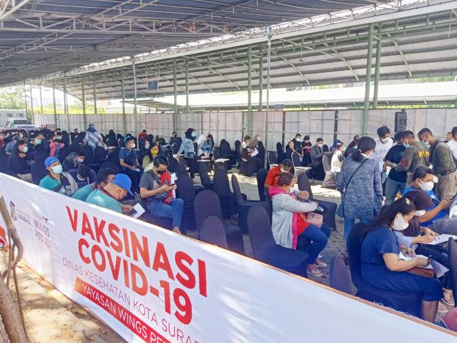 Gaspol Lawan Covid, Karyawan Dealer Dan Bengkel Yamaha Jatim Ikut Vaksin