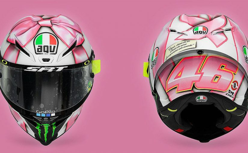 MotoGP, Corak Helm Valentino Rossi Spesial Misano 2021