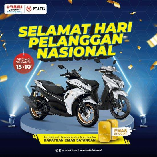 Menyambut Hari Pelanggan, Yamaha Jatim Bagikan Berjuta Keuntungan