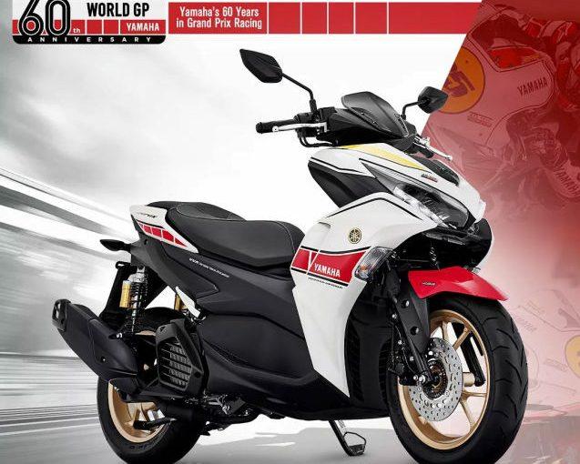 All New Aerox 155 Connected ABS Livery Yamaha World GP 60th Anniversary, Sangar!