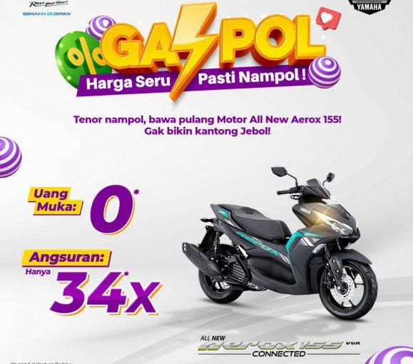 Beli Yamaha All New Aerox 155 Connected Tanpa Uang Muka, Buruan!